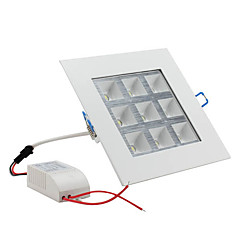 9W 900-1000lm 6000-6500K természetes fehér fény mennyezeti lámpa led izzó (85-265V)