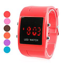 relógio dos homens de pulso de plástico Digital LED (cores sortidas)