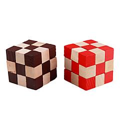 de forme irrégulière en bois 3d iq cube (couleur aléatoire)