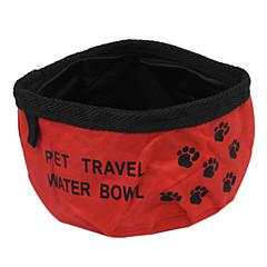 tessuto di Oxford pieghevole dell'animale domestico ciotola dell'acqua di viaggio per gli animali domestici i cani (colori assortiti)