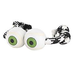 개 장난감 씹는 장난감 Rope 직물 화이트