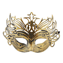 Vintage Crowned Half Mask for Halloween Masquerade Party