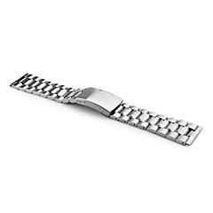 unisex roestvrij stalen horloge band 22mm (zilver)