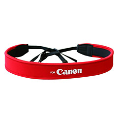 Camera Full Red Neoprene Neck Strap for Canon 50D 40D 30D 5D 450D 1000D