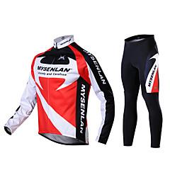 inverno quente ternos de ciclismo de manga longa dos homens mysenlan 2 lados velo queda vermelho outono
