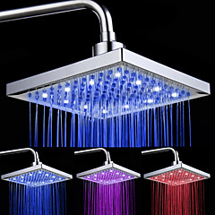 8-inch 12-LED Square Ceiling Shower Head (Assorted Colors)
