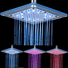 8 אינץ ראש מקלחת תקרת 12-LED כיכר אקריליק (צבעים שונים)
