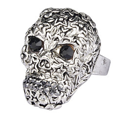 Fashion Skull Ring With Rhinestone Eyes