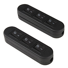 Electrical 3- Button Power Control On/Off Rocker Switch (Pair)