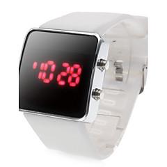 Sportig Klocka med LED och Silikonband (vit)