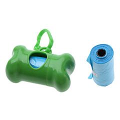 Portable Bone Shape Pet Garbage Bag Holder for Dogs Excrement(Random Color)
