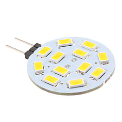 2w g4 led bi-pin lights 12 smd 5630 220 lm blanc chaud blanc 12 v