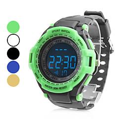 Unisex Rubber Digital LED Wrist Cycling Sports Watch (Black)