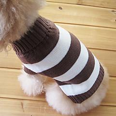 Gatos / Perros Suéteres Marrón Ropa para Perro Invierno Rayas Moda / Mantiene abrigado