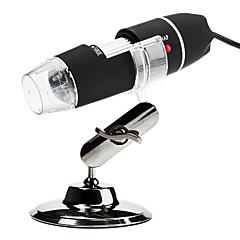 bärbara usb 2.0 och 1.1 50x / 500x 2MP digitalt mikroskop förstoringsglas med 8-ledda belysning (svart)