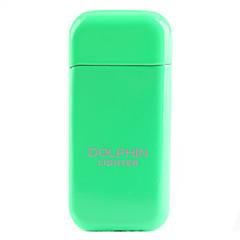 Dolphin Taille fluorescence Pocket Métal Couleur Gas Briquet avec meule (couleur aléatoire)