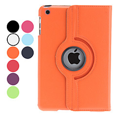 Lichee PU Leather Case w/ Rotating for iPad mini 3, iPad mini 2, iPad mini (Assorted Colors)