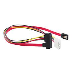SATA 7+15pin to SATA 7pin & 4pin Cable (15 cm)