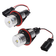 3W kallvit Ljus Angel Eyes LED lampa för BMW E-Series (2-pack, 8-30V)