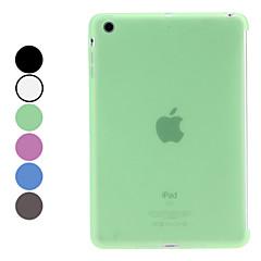 eenvoudig ontwerp zachte tup geval voor ipad mini 3, ipad mini 2, ipad mini (verschillende kleuren)