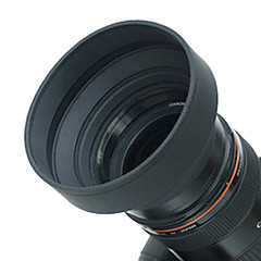 62mm Rubber Lens Hood for Vidvinkel, Standard, telelinse