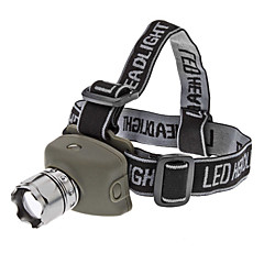 LED Flashlights / Headlamps LED 3 Mode 200 Lumens Tactical / Self-Defense Cree XR-E Q5 AAA Others , Black Rubber