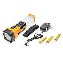 TD-2058 2-tilassa LED-taskulamppu setti (3xAA, monivärinen)