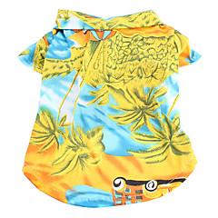 estilo hawaii vista del día patrón camiseta para perros (XS-XL)