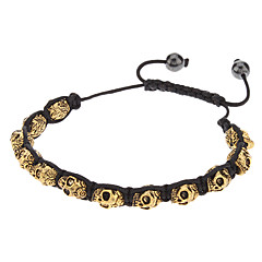Buddha Golden Skull Knit Bracelace