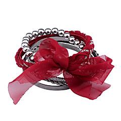 European Style  Fashion Chiffon Glaze Beads Bracelet Set