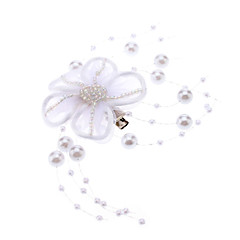 White Flower stil Pearl Strands Hair Clip for kjæledyr