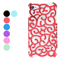 Hollow Out Style Flower Design Hard Case for iPhone 4 and 4S (Assorted Colors)