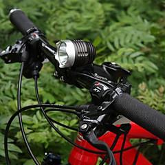 Sykkellykter Hodelykter / Sykkellykter / Front Bike Light LED Vandtæt / Oppladbar 1200 Lumens Batteri Cree Q5 SortCamping/Vandring/Grotte
