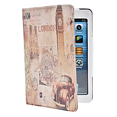 big ben mønster pu lærveske m / stativ for ipad mini 3, ipad mini 2, ipad mini