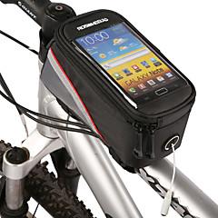 ROSWHEEL FahrradtascheFahrradrahmentasche Handy-TascheWasserdichter Reißverschluß Eingebaute Kesseltasche Staubdicht Touchscreen