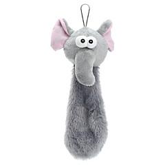잘 속는 사람과 개 고양이를위한 멋진 코끼리 스타일 폴리 에스터 섬유 소리 장난감