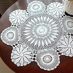 Håndlavede Hæklede White Vintage Look Tablecloth