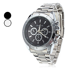 мужской деловой стиль серебряный сплав кварца наручные часы (разных цветов)