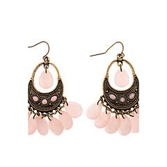 Earring Drop Earrings Jewelry Women Daily Alloy / Agate Bronze / Pink