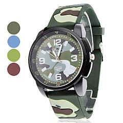 อำพรางการออกแบบซิลิโคน unisex ควอทซ์อะนาล็อกนาฬิกาข้อมือ (หลายสี)