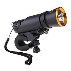 Saik 2 x LED Fietsen zaklamp + achter Licht van de Waarschuwing (300LM, 3xAAA)