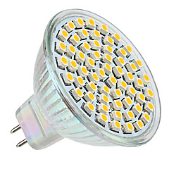 3W GU5.3(MR16) LED-spotlampen MR16 60 SMD 3528 250 lm Warm wit DC 12 V