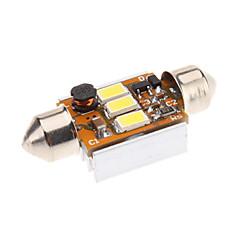 Festone 36 millimetri 1W 3x5730SMD Naturale lampadina di bianco LED per la lampada di lettura auto (12V)