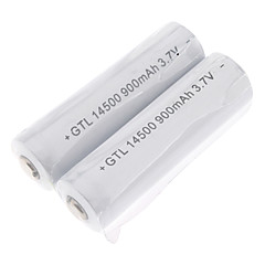 GTQQ GTL Protected 900mAh 3.7V 14500 Rechargeable Battery (2-Pack)