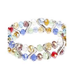 S-shaped Diamond Crystal Bracelet