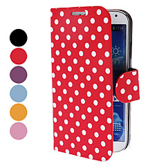 Dots elegant model PU Geantă din piele cu suport pentru Samsung Galaxy S4 I9500 (culori asortate)