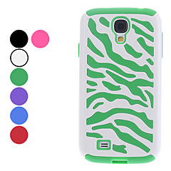 삼성 갤럭시 S4 I9500 (분류 된 색깔)를위한 얼룩말 줄무늬 패턴 하드 케이스