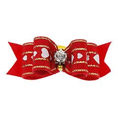 Perros Accesorios de Pelo Rojo Ropa para Perro Invierno / Primavera/Otoño Lazo Adorable / Navidad