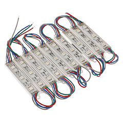Impermeable 0.6W 5050SMD RGB LED Module Light (DC 12V, 10 piezas)