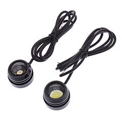 10W 800-900LM 2-Mode White Light Eagle Eye LED-lamppu Auton huomiovalaisimeen (12-24V, 1-Pair)